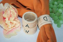 1- Napkin Ring Holders Personalized with Your Letter of Choi