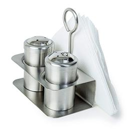 3-in-1 Salt & Pepper Stand with Napkin Holder | Salt Pepper