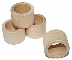 1 Smooth Wood Napkin Ring Holder, Wedding Napkin Rings, Rust
