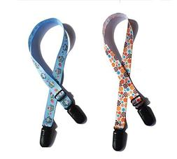 2 Pcs Colorful Adjustable Adult Child Bib Clip Napkin Clip N