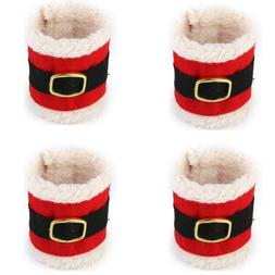4x Christmas Napkin Rings Serviette Holder Dinner Cloth Towe