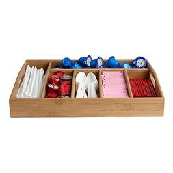 Mind Reader Bamboo Condiment and Accessories Organizer Or Bu