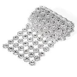 GLOGLOW 6 Row 1 Yard Acrylic Rhinestone Diamond Ribbon for W
