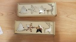 8 Pier One Holiday Christmas Napkin Rings Holders Reindeer S
