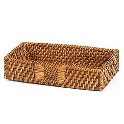 "Skalny 81337 9""x5""x1.75"" Rectangle Hapao Rattan Napkin Holde"