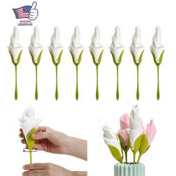 8x bloom flower paper napkin holder bracket