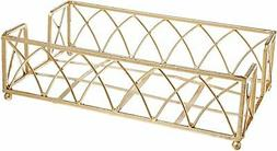 Boston International Guest Towel Caddy, Arch Design in Gold