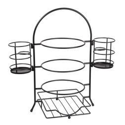 Creative Home 50273 3-Tier Plate Rack with Removable Flatwar