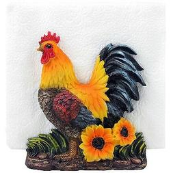 Decorative Rooster Napkin Holder Stand Sculpture for Figurin