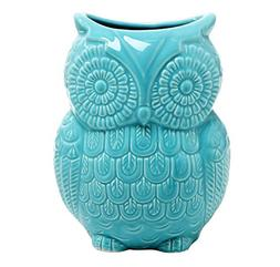 MyGift Large Owl Design Ceramic Cooking Utensil Holder, Kitc