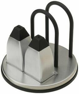 Prodyne M-915 Stainless Steel Napkin Holder with Salt and Pe