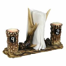 River's Edge 520 Hand Painted Poly Resin Antler Salt and Pep
