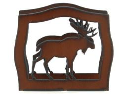 "Rustic Ironwerks Moose Napkin Holder 6.5"" By 6"" By 2"""