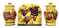 Sonoma Grape Hand-Painted Ceramic Kitchen Salt & Pepper Shak