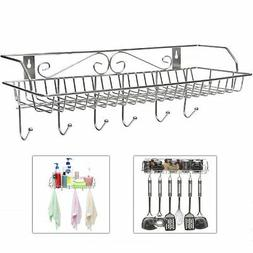 Stainless Steel Metal Wall Mounted Organizer Hanger / Storag