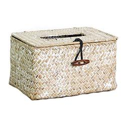 Tissue Box Cover Holder Case,Woven Tissue Box Cover - Decora