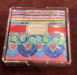 Lilly Pulitzer Acrylic Napkin Holder with Set of 20 Disposab