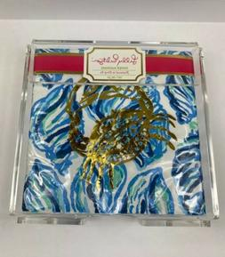 Lilly Pulitzer Acrylic Napkin Holder with Set of 25 Disposab