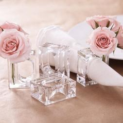 Deco-Mate Acrylic Napkin Rings Bud Vase Flower Holder – Cl