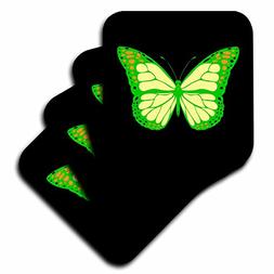 3dRose Alexis Design - Butterfly - Design of a green and yel