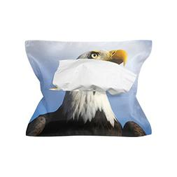 CoolPrintAll American Bald Eagle Tissue Box Cover Paper Napk