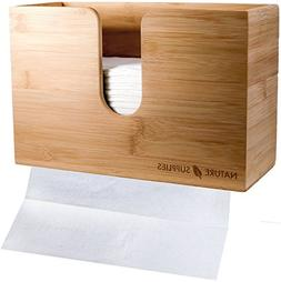 NATURE SUPPLIES Bamboo Paper Towel Dispenser for Bathroom an