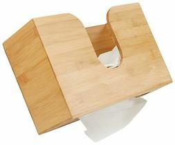 Mind Reader Bamboo Wall Mount Interfold Napkin Dispenser Org