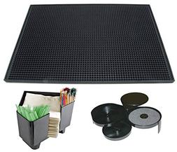 Tiger Chef Bar Rubber Mat and Bar Caddy Set Includes 18 X 12
