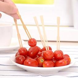 Barbecue & Picnic Supplies - 100pcs Bamboo Fruit Vegetable F