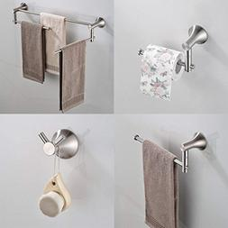 BESy 4 Pieces Bathroom Accessories Set Stainless Steel Wall