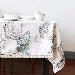 Beddingoutlet Butterfly Tablecloth Cotton Linen Dinner Table
