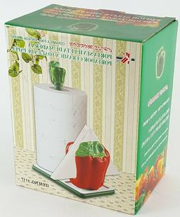 Bell Pepper Ceramic PAPER TOWEL / NAPKIN HOLDER Choice of Co
