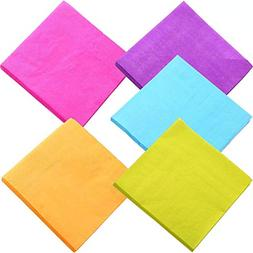 DuckMall Beverage Paper Colorful Napkins Cocktail Napkin 2 P