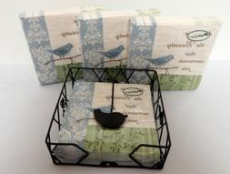 Park Designs Birds and Bees Napkin Holder and 4 Packages Ser