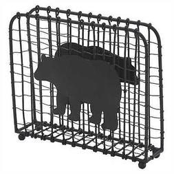 Park Designs Black Bear Wire Luncheon Napkin Holder