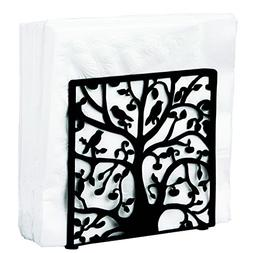 Black Metal Tree & Bird Design Tabletop Napkin Holder/Freest