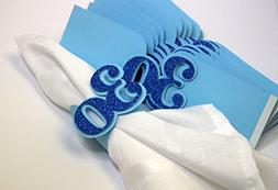 All About Details Blue 30 Napkin Holders, 12pcs