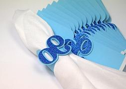All About Details Blue 90 Napkin Holders, 12pcs