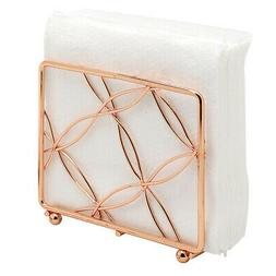 Bright Copper Vertical Napkin Holder, Rose Gold Tone Kitchen
