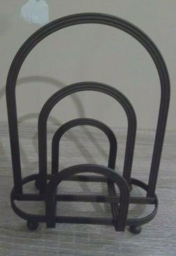 UNBRANDED BROWN METAL NAPKIN HOLDER NEW 8.5 INCHES TALL CONT