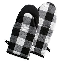 DII Buffalo Check Plaid Oven Mitts, Heat Resistant for Every