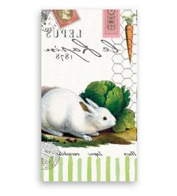 Michel Design Works Bunnies Hostess Napkin, Package of 15, 3