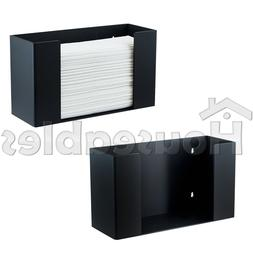 C-Fold Multifold Paper Towel Dispenser Holder Black Acrylic