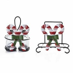Candy Canes Napkin Holder and Salt & Pepper Shaker Holders S