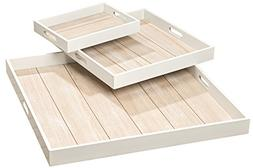Whole House Worlds The Cape Cod Shiplap Trays, Set of 3, Rus