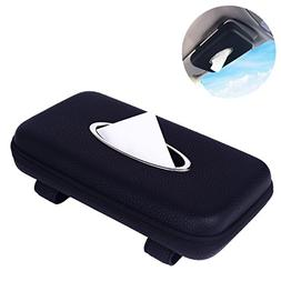 MEIBEI Car Visor Tissue Holder, Leather Tissue Holder, Recta