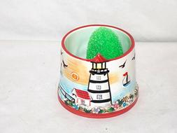 NEW CERAMIC 3D KITCHEN SINK NAUTICAL OCEAN LIGHTHOUSE THEME