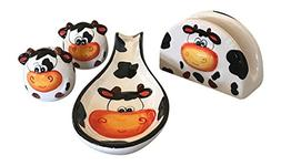 Ceramic Cow Kitchen Collection, Salt and Pepper Shaker, Spoo
