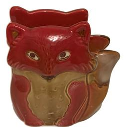 Natures Home Ceramic Fox Napkin Holder Red Fall Autumn Woodl