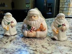 Christmas Santa Claus Napkin Holder Salt & Pepper Shaker Set
